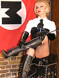 Uniformed Mistress subjects her slave to pain and discipline
