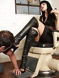 Mistress O loves submission from her boot slave