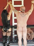 Dommes whipping their slave